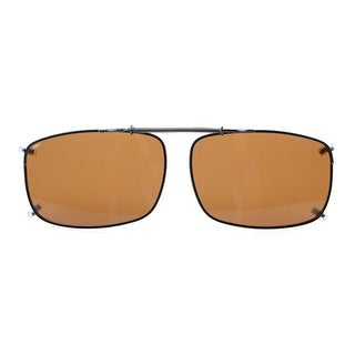 "Eyekepper 2 1/4""x1 1/2"" Clip On Sunglasses With Spring Draw Bar Polarized Brown Lens"