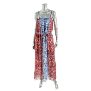 Two by Vince Camuto Womens Chiffon Printed Maxi Dress