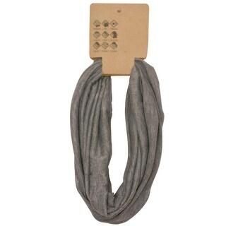 Head Gear Womens Grey Solid Color Headband Trendy Hair Accessory