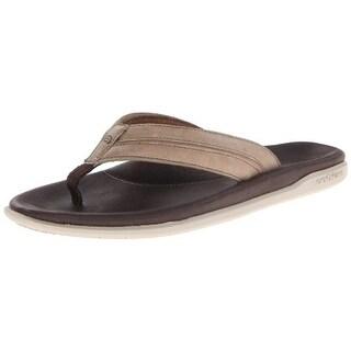 Cobian Mens Tofino Archy Leather Slide Flip-Flops