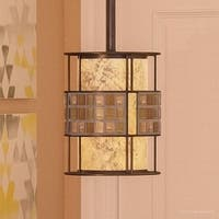 """Luxury Art Deco Hanging Pendant Light, 8.5""""H x 6""""W, with Moroccan Style, Copper Revival Finish"""