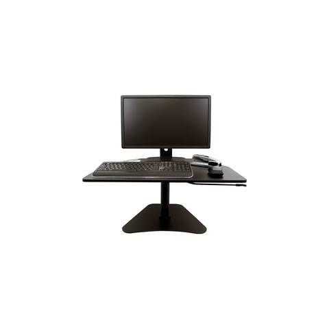 Victor High Rise Adjustable Stand-Up Desk, Black High Rise Adjustable Stand-Up Desk, Black
