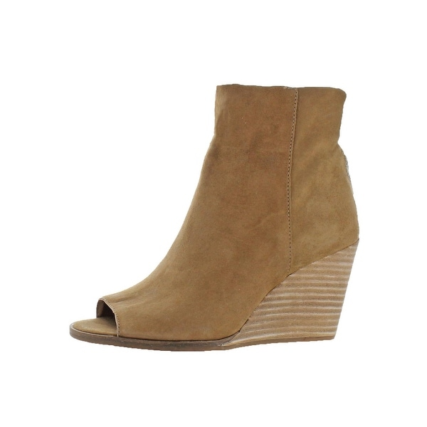 986fcaf07a0c Shop Lucky Brand Womens Urbi Wedge Boots Peep Toe Bootie - Free ...