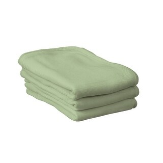 Foundations Blanket Crib Thermasoft Cotton Knit Mint, Pack Of 6