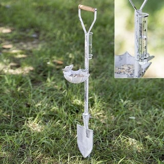 Spade Feeder and Rain Gauge Garden Stake