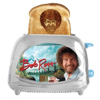 Bob Ross Toaster Joy of Painting - Toasts Bob's Iconic Face onto Your Toast, 2-Slot - 8.5 in. x 5 in. x 10 in.
