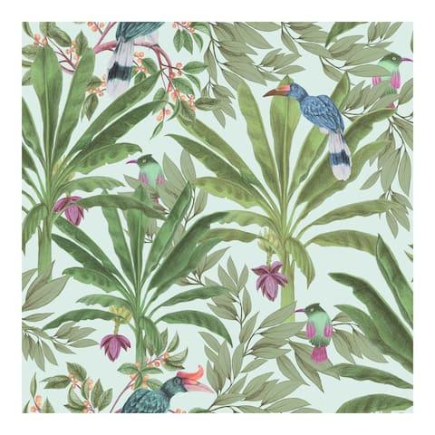 Carola Green Jungle Tropics Wallpaper - 20.9 x 396 x 0.025