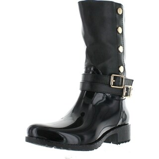 Lucky Top Rainy-30K Children Girl's Double Buckle Two Tone Knee High Rain Boots