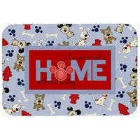 A House Is Not A Home Without A Dog Glass Cutting Board - Large