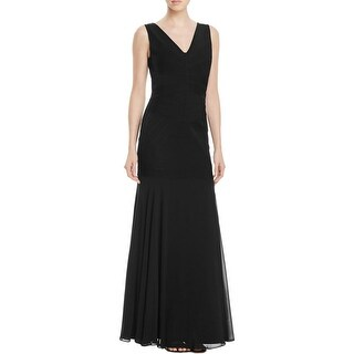 JS Collections Womens Evening Dress Bandage V-Neck