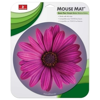 Deluxe Round Mouse Mat- Flower