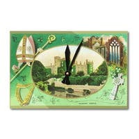 Kilkenny Castle Ireland St Patrick Day Vintage Art (Acrylic Wall Clock) - acrylic wall clock