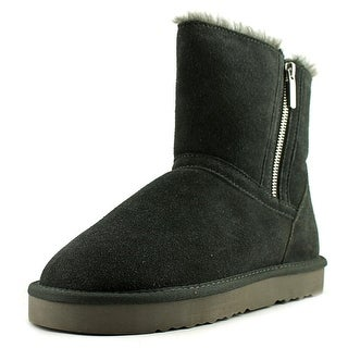 Style & Co Ciley Women Round Toe Suede Gray Winter Boot