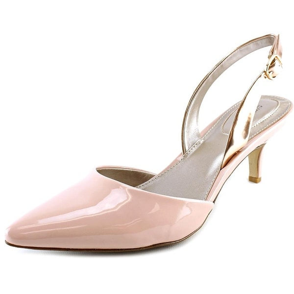 Alfani Cassays Pointed Toe Synthetic Slingback Heel