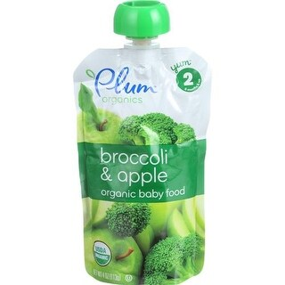 Plum Organics - Broccoli Apple Baby Food ( 6 - 4 OZ)