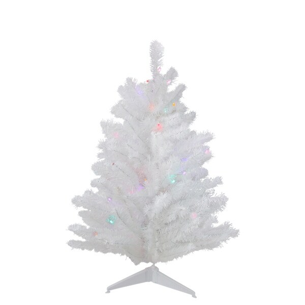 Lead Free Christmas Trees: Shop 3' Battery Operated Pre-Lit LED White Pine Artificial