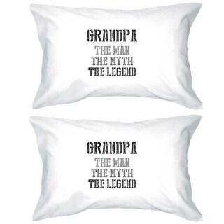 Legend Grandpa Cotton Pillowcases Queen Size Family Gift
