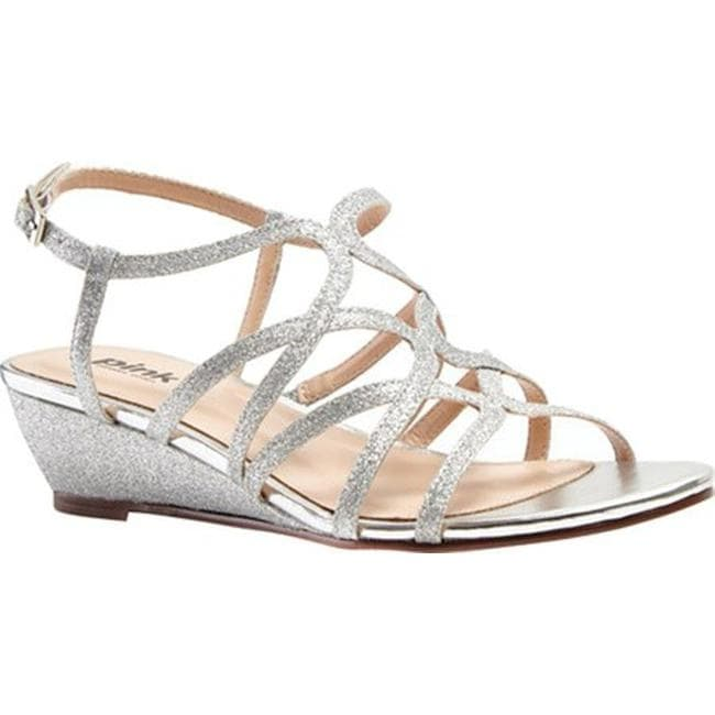 c5bd1235c Shop Pink Paradox London Women's Opulent Wedge Sandal Silver Glitter - On  Sale - Free Shipping Today - Overstock - 12267647