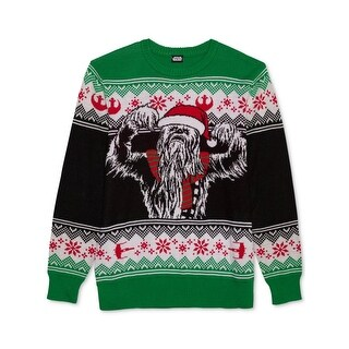 Hybrid Apparel Mens Chewbacca Ugly Sweater Graphic Christmas