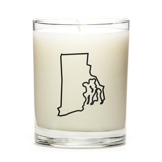 State Outline Candle, Premium Soy Wax, Rhode-Island, Lemon