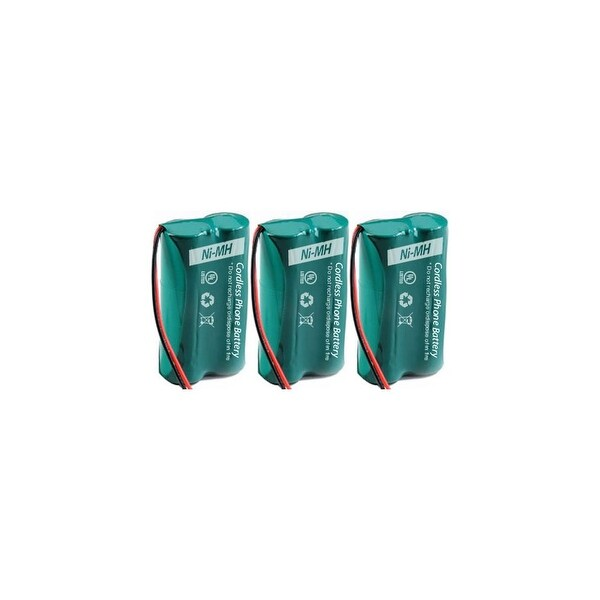 Replacement Battery For GE/RCA 25250RE1 / 28811FE2 Cordless Phones - 6010 (500mAh, 2.4V, Ni-MH) - 3 Pack