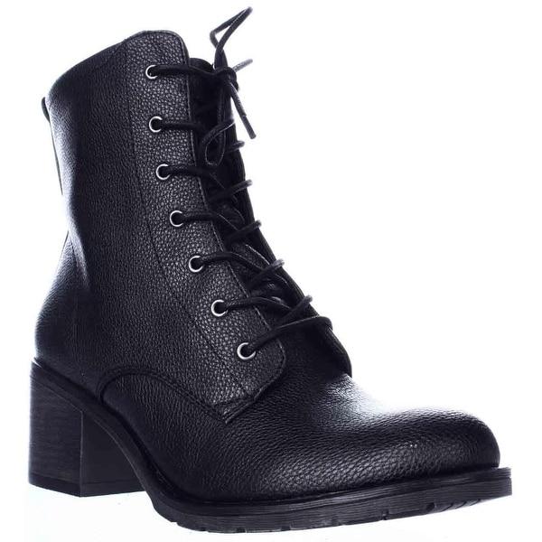 BareTraps Deezie Mid-Calf Combat Boots, Black