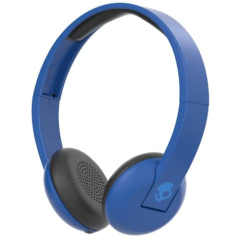 Skullcandy Uproar Bluetooth Wireless On-Ear Headphones with Built-In Mic and Remote, Royal - Blue - 7.3 x 3.1 x 7.3