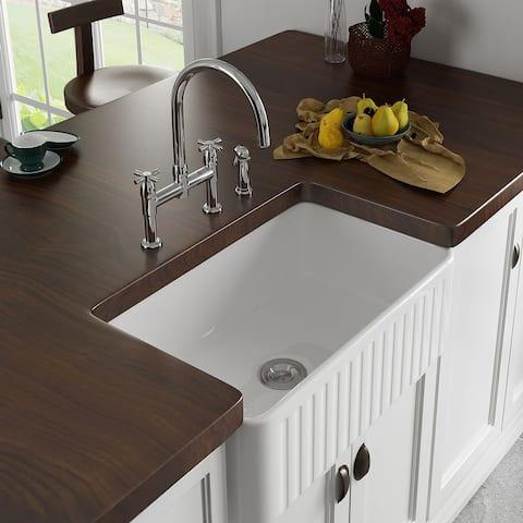 Eridanus Rio 30-in Reversible Undermount Apron-Front Kitchen Sink