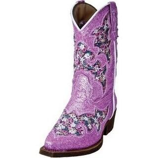 Laredo Western Boots Girls Glitterachi Stitched Cowboy Glitter LC2235