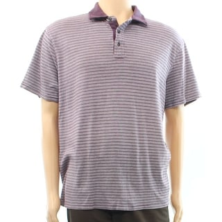 Michael Kors NEW Purple Striped Mens Size 2XL Polo Rugby Cotton Shirt