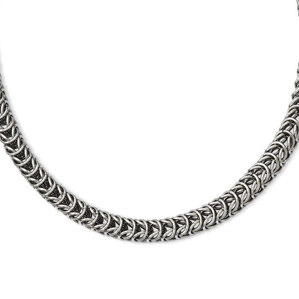 Stainless Steel Fancy 18in Necklace (7 mm) - 18 in