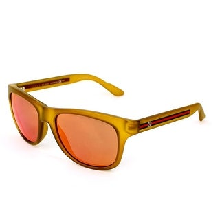Gg3709S M6X Yellow Frame Sunglasses With Orange Flash Mirror Lenses
