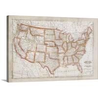 Ramona Murdock Premium Thick-Wrap Canvas entitled Map of USA
