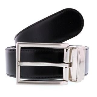HS Collection HSB 4099 Black/Brown Reversible/Adjustable Mens Belt