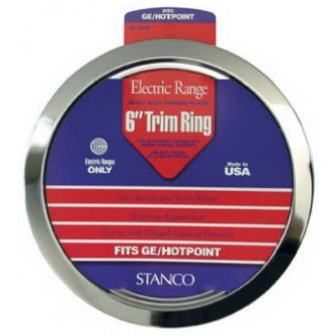 Stanco GT-6 Electric Rnge Trim Ring, Chrome Plated, 6""