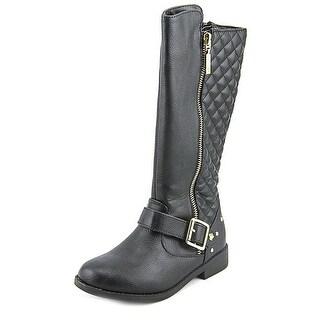 Nina Neha Round Toe Leather Mid Calf Boot