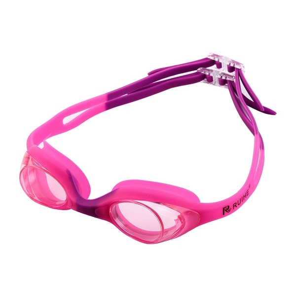 Clear Vision Anti Fog Swimming Goggles Glasses Pink Purple for Youth Kids Child