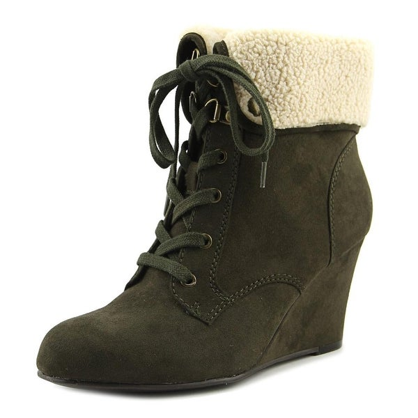 Indigo Rd. Olile 2 Women Round Toe Synthetic Ankle Boot