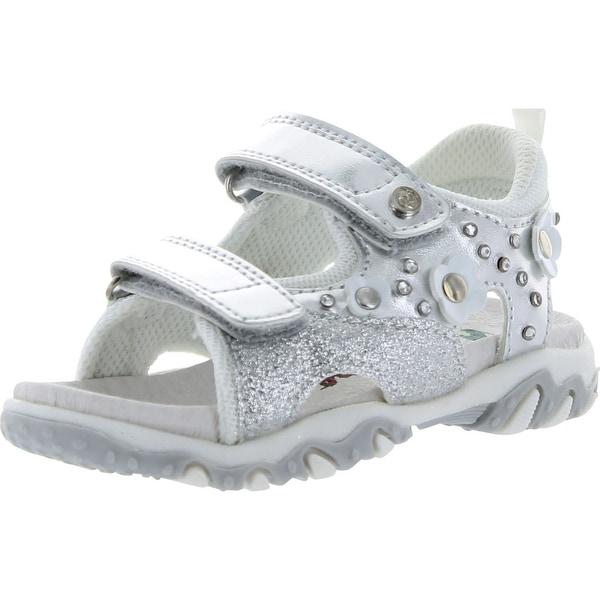 Naturino Girls 385 Sport Sandals - argento/bianco