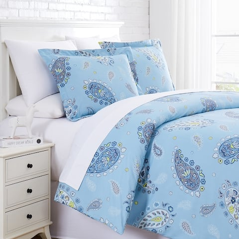 Vintage Paisley Ultra- Soft Duvet Cover and Sham Set