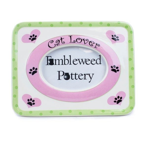 Tumbleweed Pottery Cat Lover Picture Frame