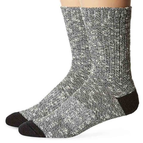 PowerSox Men Crew Boot Socks Cotton P7165N2 2 Pair - Large
