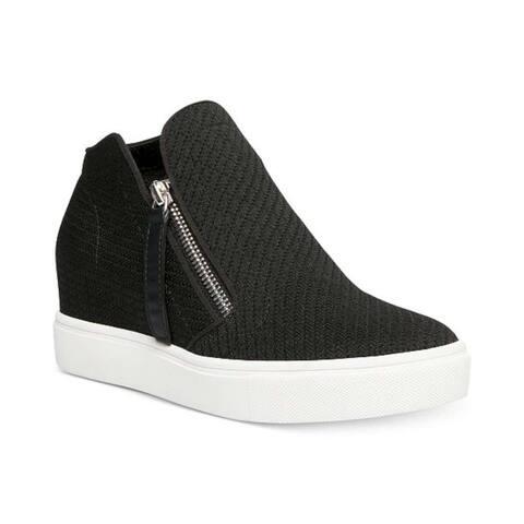 Steve Madden Womens Camden Fabric Hight Top Zipper Fashion Sneakers