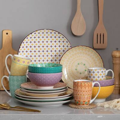 vancasso Macaron Porcelain Japanese Style Dinnerware Set