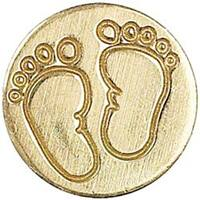 "Baby Feet - Decorative Seal Coin .75"""