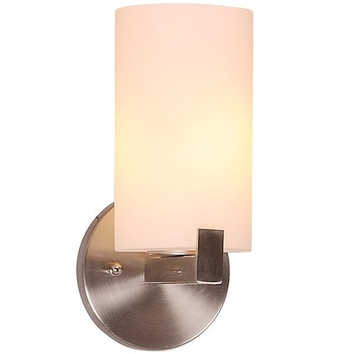 Design House 573154 Eastport Indoor Wall Mount 1-Light Fixture, Satin Nickel