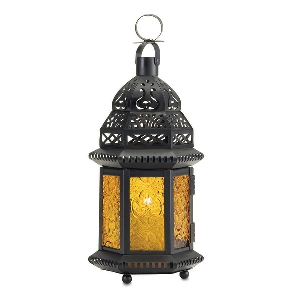 Natural Yellow Glass Moroccan Lantern