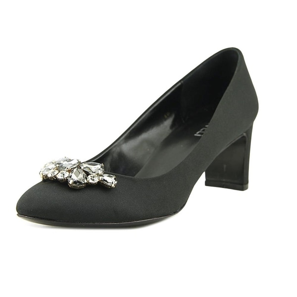 Vaneli Zelda Women W Round Toe Canvas Black Heels