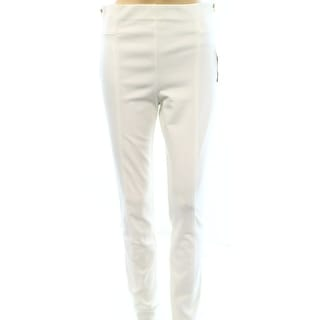 INC NEW White Side Zip Detail Women's Size 6 Pull On Casual Pants