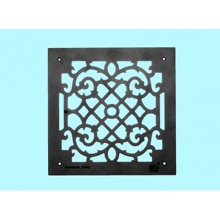 8 Heat Air Grille Cast Victorian Overall 14 x 14